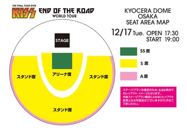 KISS日本公演2019年の京セラドーム大阪